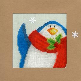 Borduurkaart - Sneeuw Pinquin