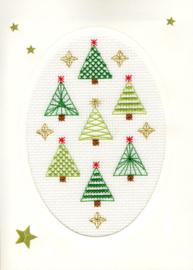 Borduurkaart - Kerstbos