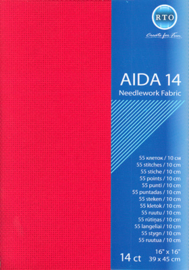 Aida - 14 count - RTO - diverse kleuren - 39x45cm