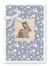 Borduurkaart - Bunny