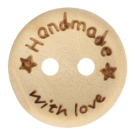 Houten knoop - Handmade with love