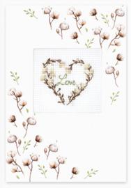 Borduurkaart - Love Cotton