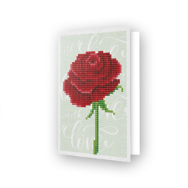 Wenskaart DD - Love Rose