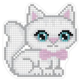 Magneet met witte kat