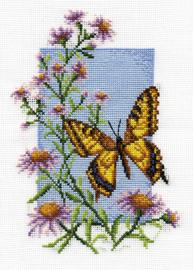 Vlinder met Bloem