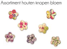 Houten knopen Bloem