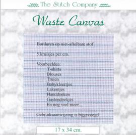 Waste Canvas / Soluble  (voor borduren op niet-aftelbare stof)