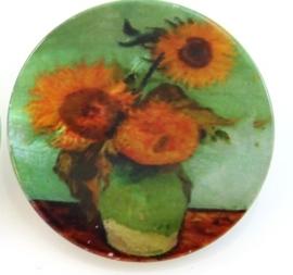 Knoop parelmoer - van Gogh zonnebloemen