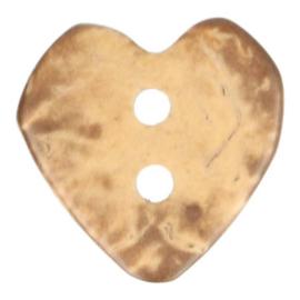 Houten Knoop - Hart