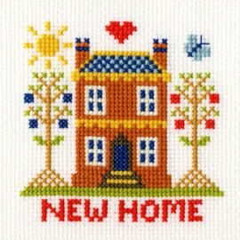 Borduurkaart - New Home