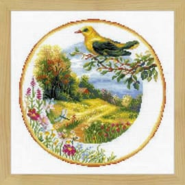 Plate with Great Tit