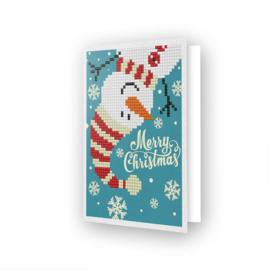 Wenskaart DD - Merry Christmas Snowman