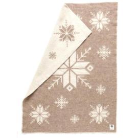 Hestatep deken - Sneeuwvlok bruin