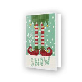 Wenskaart DD - Let it Snow