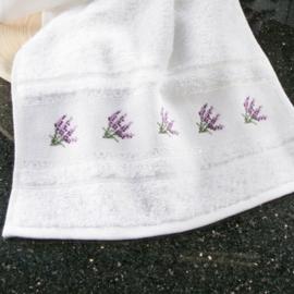 Gastendoek met lavendelrand