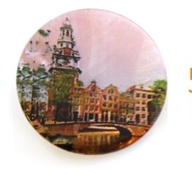 Knoop parelmoer met Amsterdams motief