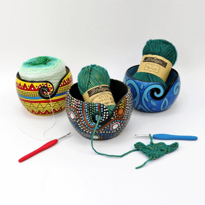 Handgeschilderde Yarnbowls