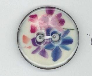 Knoop kokos, bloem paars/blauw