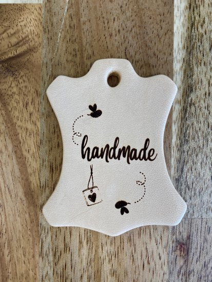"Leren hanger ""Handmade"""