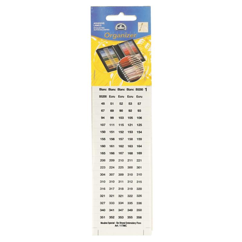 DMC - kleurnummerstickers