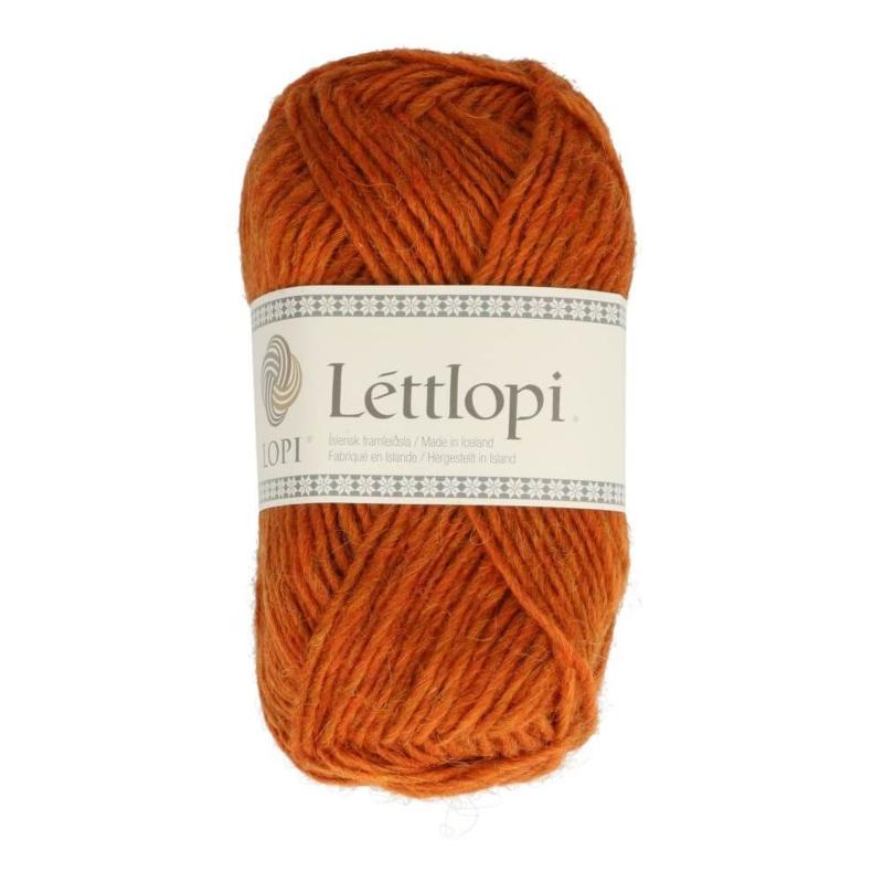 Lettlopi - Oranjebruin / appelsinugult brúnt