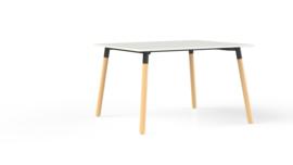 Corner tafel CRV12875 rechthoekig 120x80cm - houten onderstel