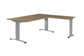 Huislijn BASIC Bureautafel met aanbouw (L of R) B1040 afmetingen 200x90/46x80cm