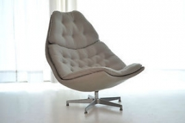 Artifort fauteuil F587L laag model draaibaar