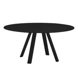 ARKI by Pedrali ronde vergadertafel 159cm ARKD159 12mm zwart Fenix