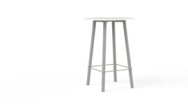 Corner tafel CRR0811M rond 80cm metalen onderstel HOOG