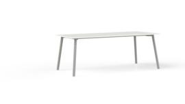 Corner tafel CRV20175M recht 200x100cm - 4 poots metalen onderstel