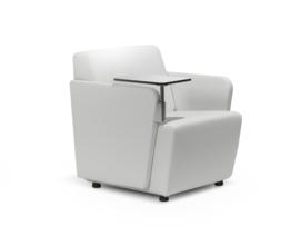Lande Olli met RVS armen, luxe fauteuil, zetel of bank