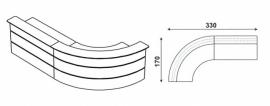 Huislijn BALIE Type 4 afmeting 326x170 cm