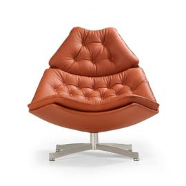 Artifort fauteuil F587 hoog model draaibaar