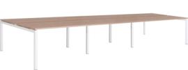 6 persoons  benchwerkplek 6x 120x80cm, vaste hoogte 75cm BW6002