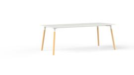 Corner tafel CRV20175 rechthoekig 200x100cm - houten onderstel