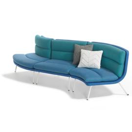 Lande Talks comfortabele koppelbare sof met rondingen