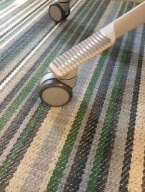 HAG los zacht wiel 65mm voor harde vloer, onbelast geremd zwenkwiel