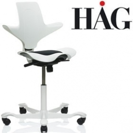 HAG Capisco Puls WHITE edition zadelstoel saddle seat model 8010