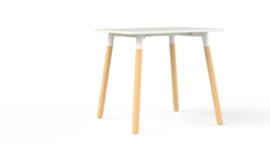 Corner tafel CRV0875 vierkant 80x80cm - houten onderstel
