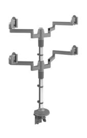 Humanscale M-Flex voor 4 beeldschermen | straight link | straight link