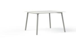 Corner tafel CRV12875M recht 120x80cm - 4 poots metalen onderstel