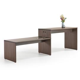 Lande Extru Table, tafel, statafel, combinatie ervan of bank