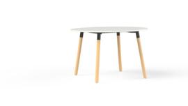 Corner tafel CRR1275 rond 120cm houten onderstel