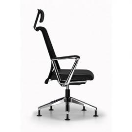 Comforto bezoekersstoel model 5901K met hoofdsteun standaard