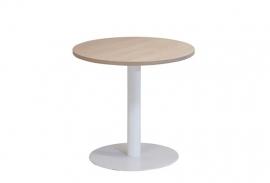 Huislijn kolom tafel met 1 ronde voet afmeting 80cm, hoogte 75cm KL1200