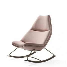Artifort 500 series fauteuil Rocking Chair, dunne stoffering