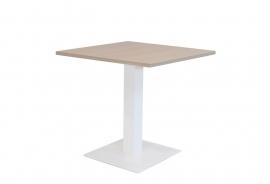 Huislijn kolom tafel met 1 vierkante voet afmeting 80x80cm, hoogte 75cm KL1100