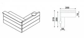 Huislijn BALIE Type 2 afmeting 200x219 cm