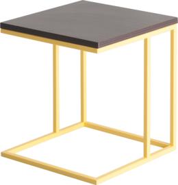 CT4010 Frame lounge tafel vierkant 38x38cm, hoogte 42cm